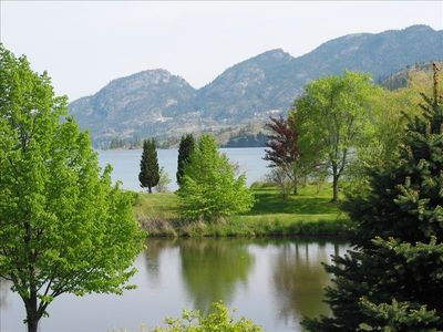 View of Park Pond and Skaha Lake to the north