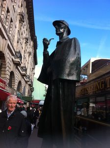 There's even a statue by the Tube station to Marylebone's famous detective