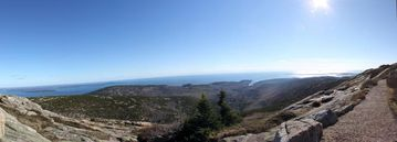 View from Cadillac Mountain looking south towards Cranberry Islands