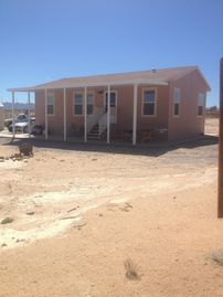 Joshua Tree mobile home rental - nice 2010 mobile home on 3 acres close to the base and Joshua tree the casino