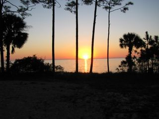 Port St. Joe cottage photo - Evening Sunsets By The Bay!