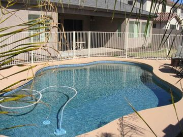 Laveen bungalow rental - Private fenced salt water pool in backyard.