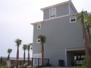 Cape San Blas house photo - Back of Emerald and pool area