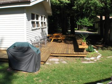 Deck on front of cottage