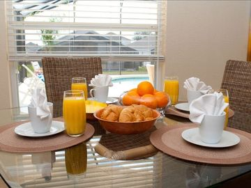 Breakfast by the sun and the pool. A bright, casual start to your sun filled day