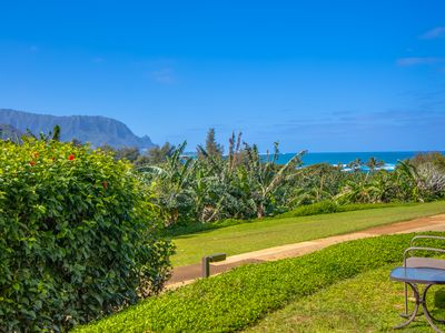 Panoramic views of Hanalei Bay and Bali Hai from the walkout lanai!