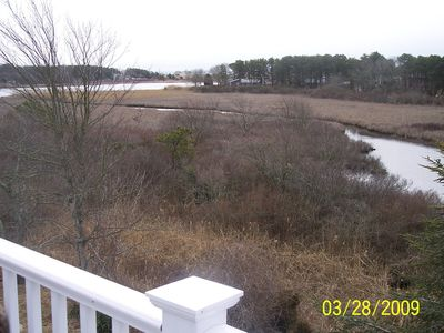 3rd floor deck view of marsh