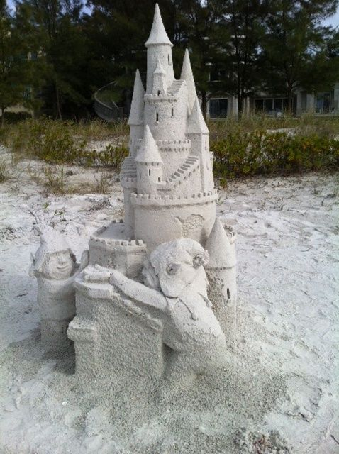 2012- One of Sanding Ovations castles made directly on our beach!