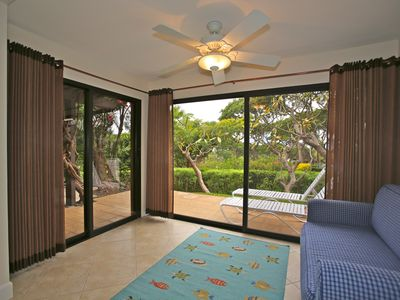 Enclosed Lanai - with sleeper sofa and Peek-a-boo Ocean View
