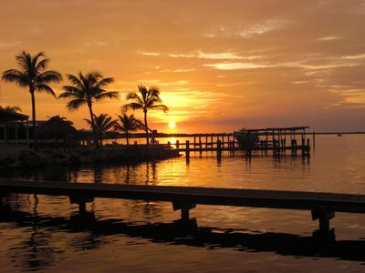 Key Largo house rental - Sunsets from Private Dock