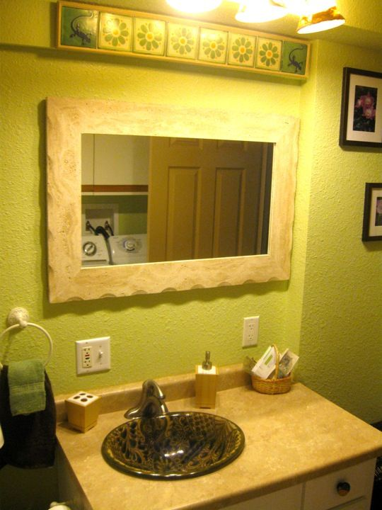 Vanity in bathroom