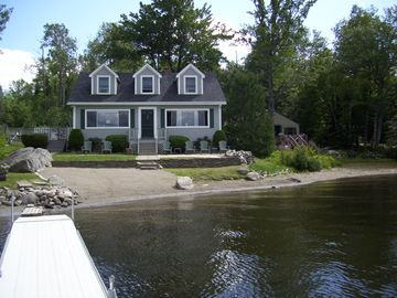 Ellsworth cottage rental - Private Sandy Beach with Dock & Swim Float