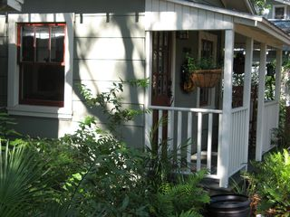 Tampa cottage photo - Livingroom portion of cottage with native plant landscaping.