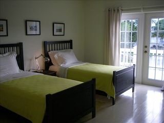 Governor's Harbour house photo - Bedroom Three. Twin beds can be converted to a king.
