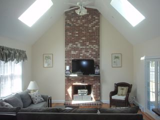 New Seabury house photo - Family room with Stereo, Wii, DVD library
