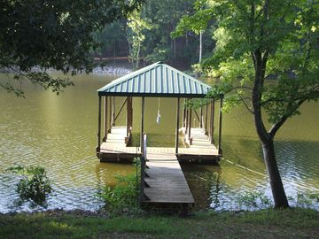 Covered boat dock and gangway