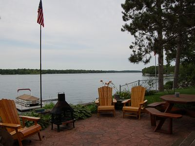 Patio and Chairs overlooking the lake