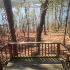 Greers Ferry Lake house rental - Summer and winter lake view from private deck