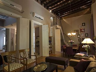 Recoleta apartment photo - Living dining room with stairs to 2d loft bedroom