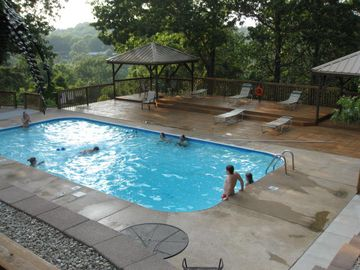 We have 2 beautiful pools where you can picnic and watch the kids swim