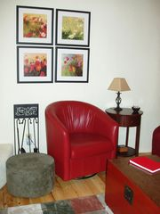 Taos house photo - Red leather chairs are very comfortable.