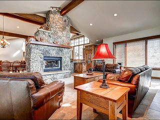 Baldy Mountain Breckenridge house photo - Large Great Room With 2 Sided Stone Fireplace