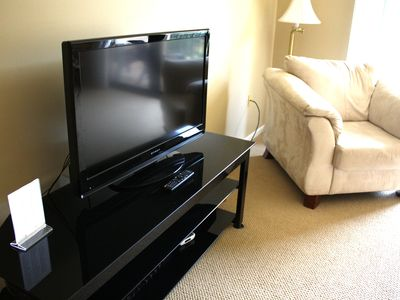 Flat screen in living room