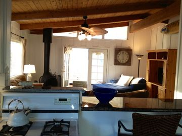Ventura house rental - Back upstairs private patio. Off of kitchen sunny. BBQ here as well.