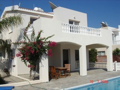 Pegia (Peyia) villa rental - View showing the Veranda and Balcony