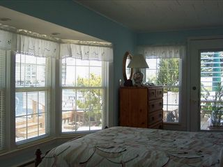 Stone Harbor property rental photo - Bay Front Bedroom, Private Bath,-Outside Dining Deck, Ocean Air
