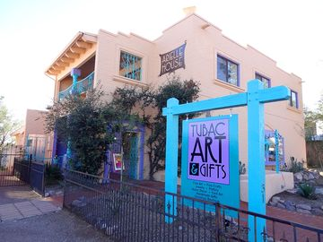 Tubac apartment rental - Gallery and gift shop on first floor, apartment on second floor