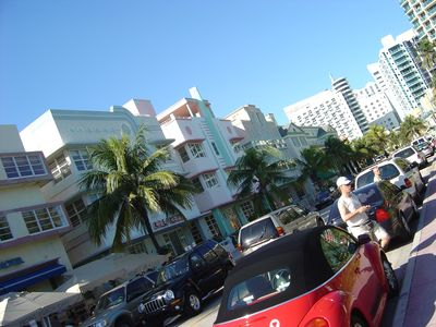 Famous Ocean Drive a short walk away