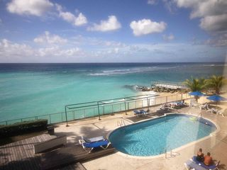 St. Lawrence Gap condo photo - Your view of the Caribbean Sea; photo taken from the master bedroom