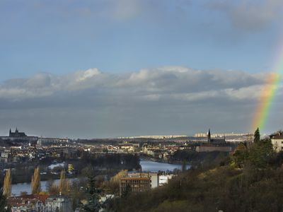 Apartment with magnificent view of Prague only 20 mins to the city centre