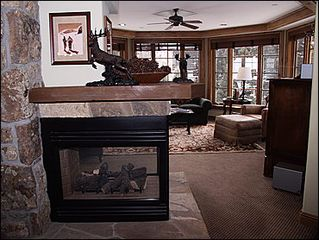 Vail townhome photo - Living Area Fireplace