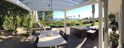 180 degree view of the Santa Monica bay