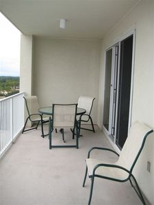 Spacious balcony, perfect for entertaining!