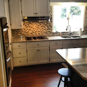 Petoskey cottage rental - Gas Range, Double oven, Wine and beverage fridge