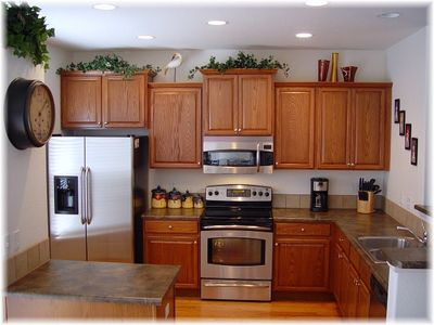 Kitchen with upscale SS appliances