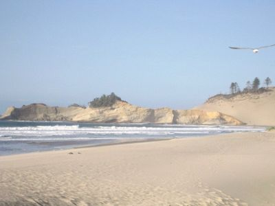 View of Cape Kiwanda in Pacific City, Oregon