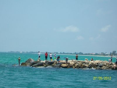 Fishermen on Venice North Jetty