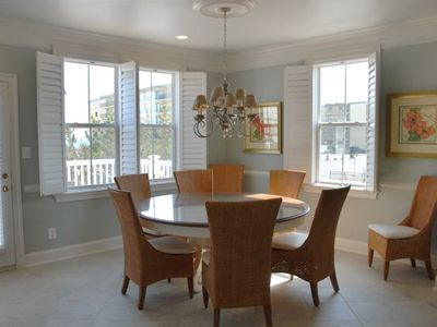 """SouthPointe"" Dining Area w/ Ocean Views and Door to Deck for Outdoor Dining"