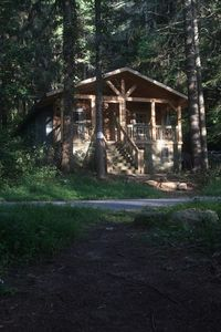 the cabin from the lake