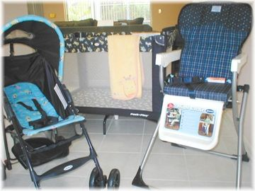 Pack and play - stroller and highcahir all incuded