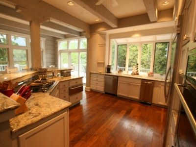 Gourmet kitchen with granite counter tops and ss appliances