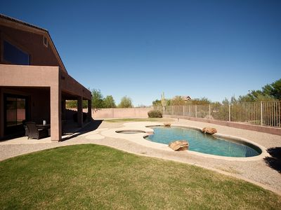 Huge backyard with Pool, Spa and Large Covered Patio