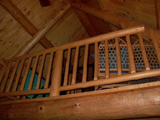 Mackinaw City cabin photo - Looking to loft sleeping area