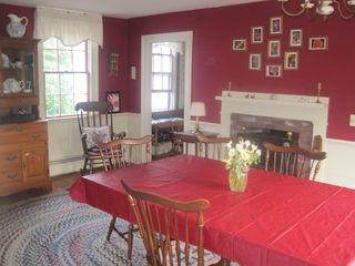 Westport Island house photo - A dining room that seats 12-14, plus has room for a side card table.