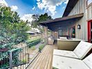 Deck - The partially covered deck offers sun and shade.