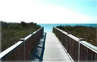 Beach Boardwalk access just 100 steps away from your patio !!